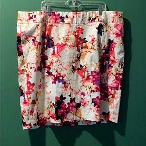 Lane Bryant floral A-Line skirt 26